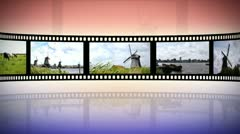 Reel clip holland loop-able Stock Footage