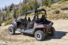 Polaris RZR Sport vehicle on mountain trail 3108.jpg Stock Photos