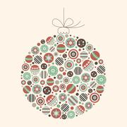 Abstract Christmas Bauble Illustration - stock illustration