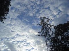 High-voltage tower Stock Photos