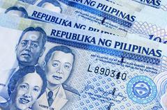 Philippines peso macro Stock Photos