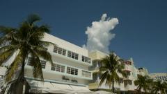 Miami South Beach Ocean Drive tilt down 24p Stock Footage
