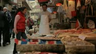 Stock Video Footage of local Market on street in Hong Kong