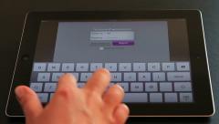Yahoo Messenger on iPad3 Stock Footage