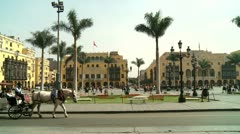 Carriage in the Cenral City of Lima, Peru Stock Footage