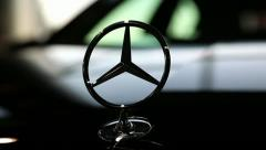 Mercedes-Benz emblem Stock Footage