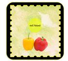 Personalizable label for peppers products - italian Stock Illustration