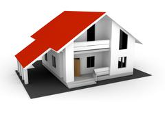individual house for sale - stock illustration