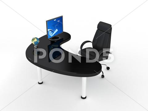 Stock Illustration of business chair over white.