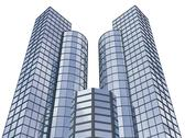3d abstract skyscrapers for company presentation Stock Illustration
