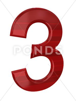Stock Illustration of number over white