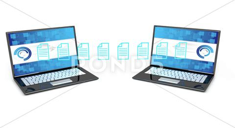 Stock Illustration of data transfer concept