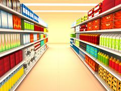 supermarket - stock illustration