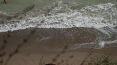 Ocean Waves Break on Shore Stock Footage