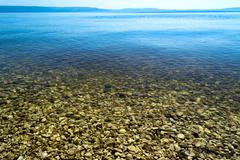 stoned beach - stock photo