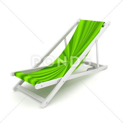 Stock Illustration of chaise lounge over white