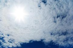 Stock Photo of beautiful cloudscape and sun