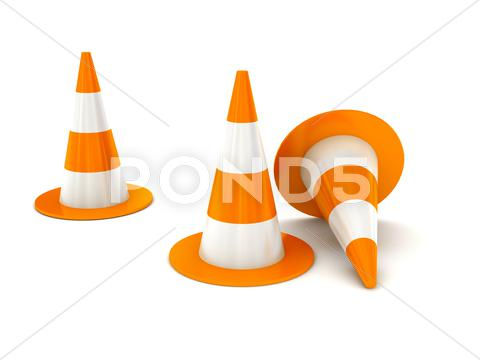 "Stock Illustration of ""under construction"" sign over white"