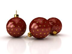 Christmas balls over white Stock Illustration
