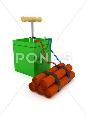 Stock Illustration of explozive over white