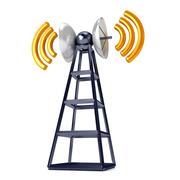 mobile antena over white - stock illustration