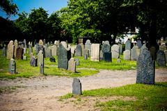Old graveyard Stock Photos