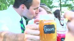 Bride and Groom Cheers 1 - stock footage