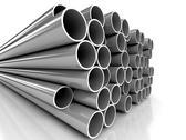Metal tubes over white background Stock Illustration