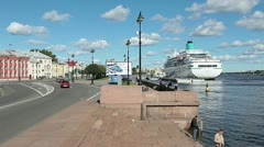 Streets and granitic embankments of Saint-Petersburg, Russia - stock footage