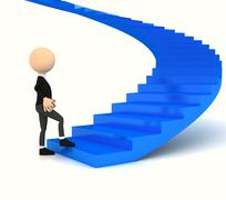 professional carrier stair over white - stock illustration