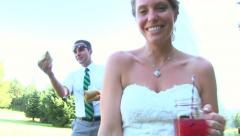 Wedding Games Stock Footage