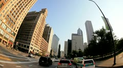 P.O.V. driving, Smurfit Stone Building, Chicago, USA, T/lapse Stock Footage