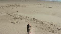 Feet on a Beach Stock Footage