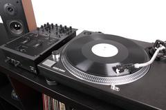 professional dj equipment - stock photo
