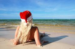 Stock Photo of caribbean santa woman