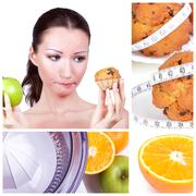 diet collage - stock photo