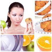 Diet collage Stock Photos