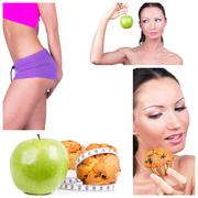 Stock Photo of diet collage