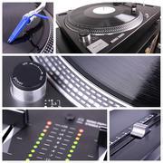 dj equipment collage - stock photo