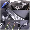 Dj equipment collage Stock Photos