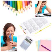 education collage - stock photo