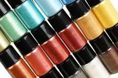 Multicolour make-up pigment Stock Photos