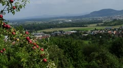 panoramic view to the east of Baden-Wuerttemberg, Germany - stock footage