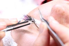 making artificial lashes - stock photo