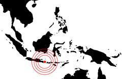 Stock Illustration of earthquake in bali