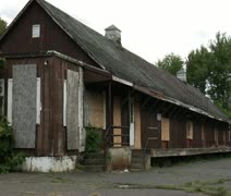 The olde train station Stock Footage