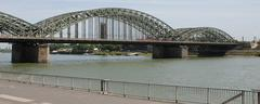 The rail bridge in Cologne, Germany Stock Photos