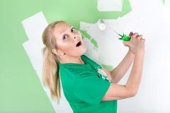 Stock Photo of happy painter