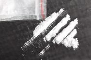 Stock Photo of cocaine powder in lines