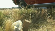 Stock Video Footage of littering the roadside